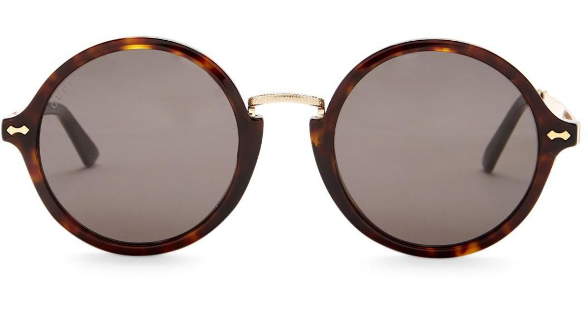 5d2eada27d5 Lyst - Gucci Women s Retro Circle Acetate Frame Sunglasses