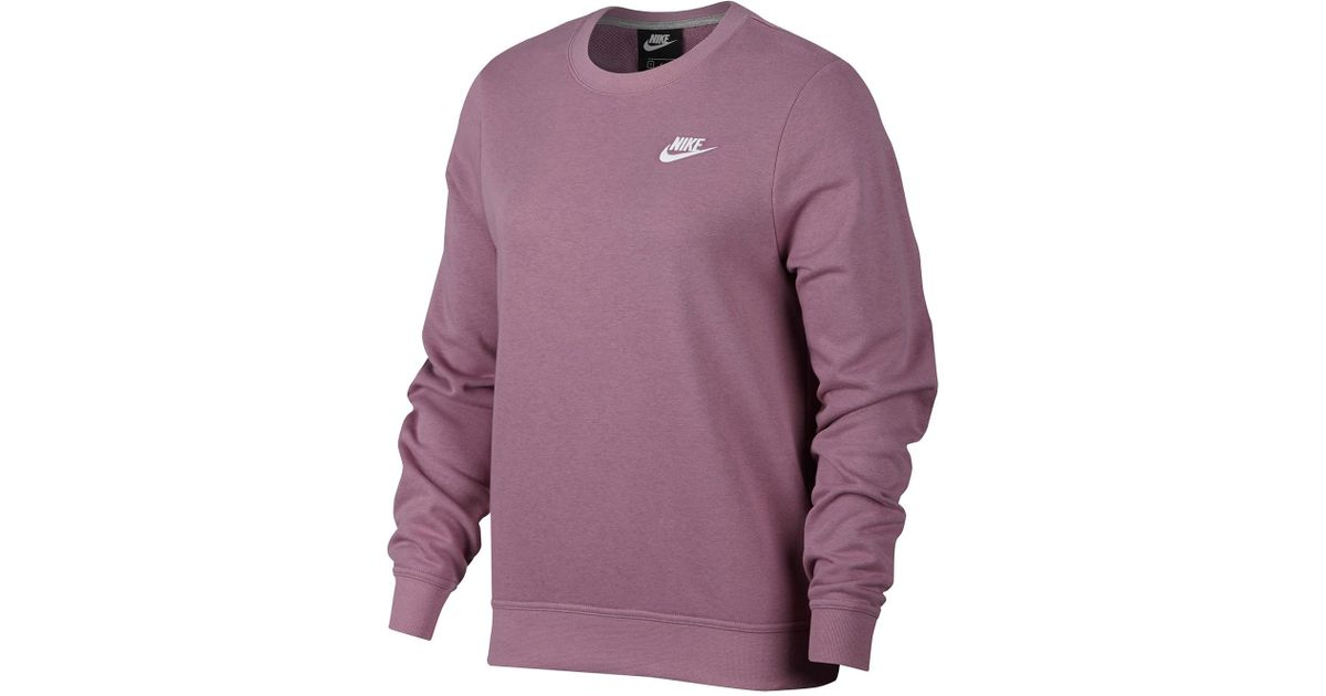 4f078e4f5 Nike Club Crew Neck Sweater in Purple - Lyst