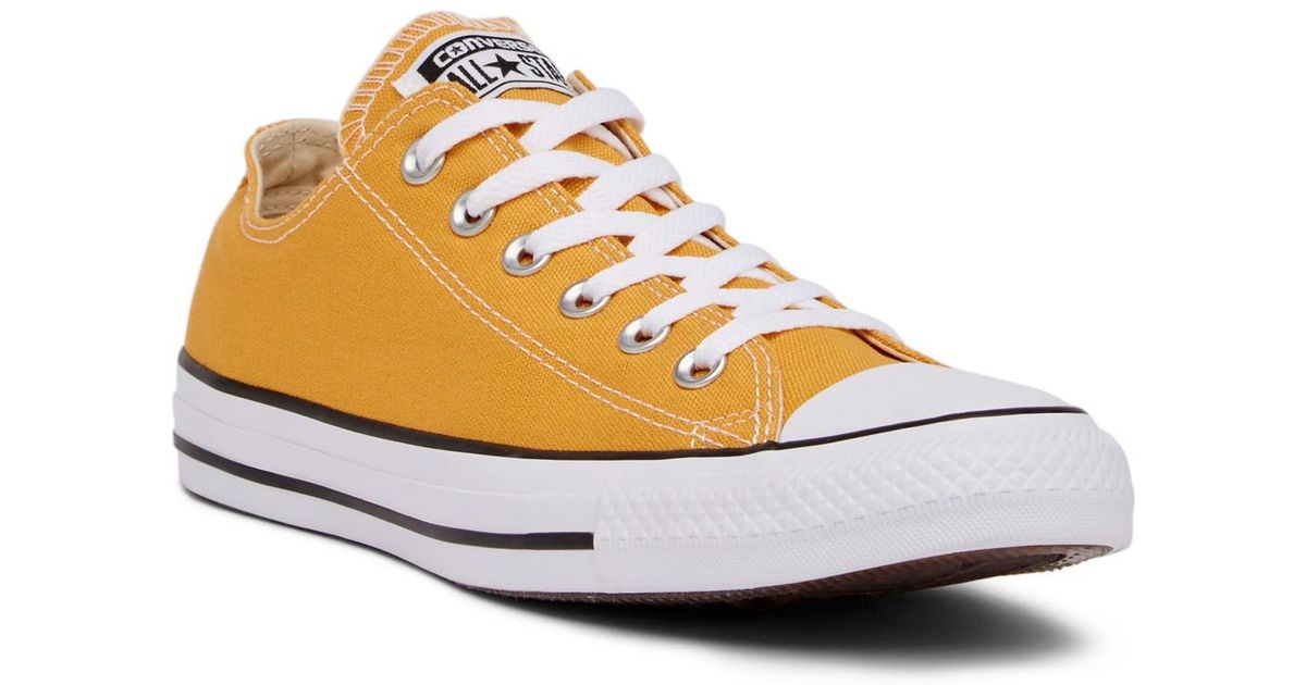 Lyst - Converse Chuck Taylor All Star Solar Orange Oxford Sneaker in Orange 7ae81976a