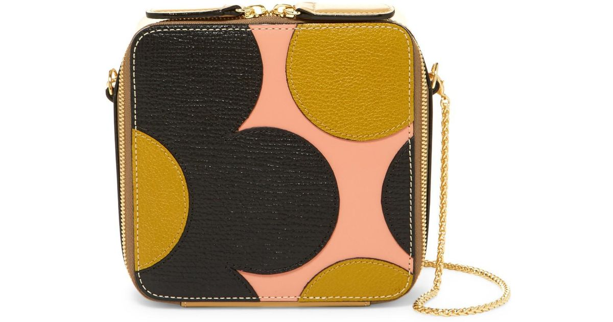 948721cef Lyst - Orla Kiely Min Leather Poppy Bag