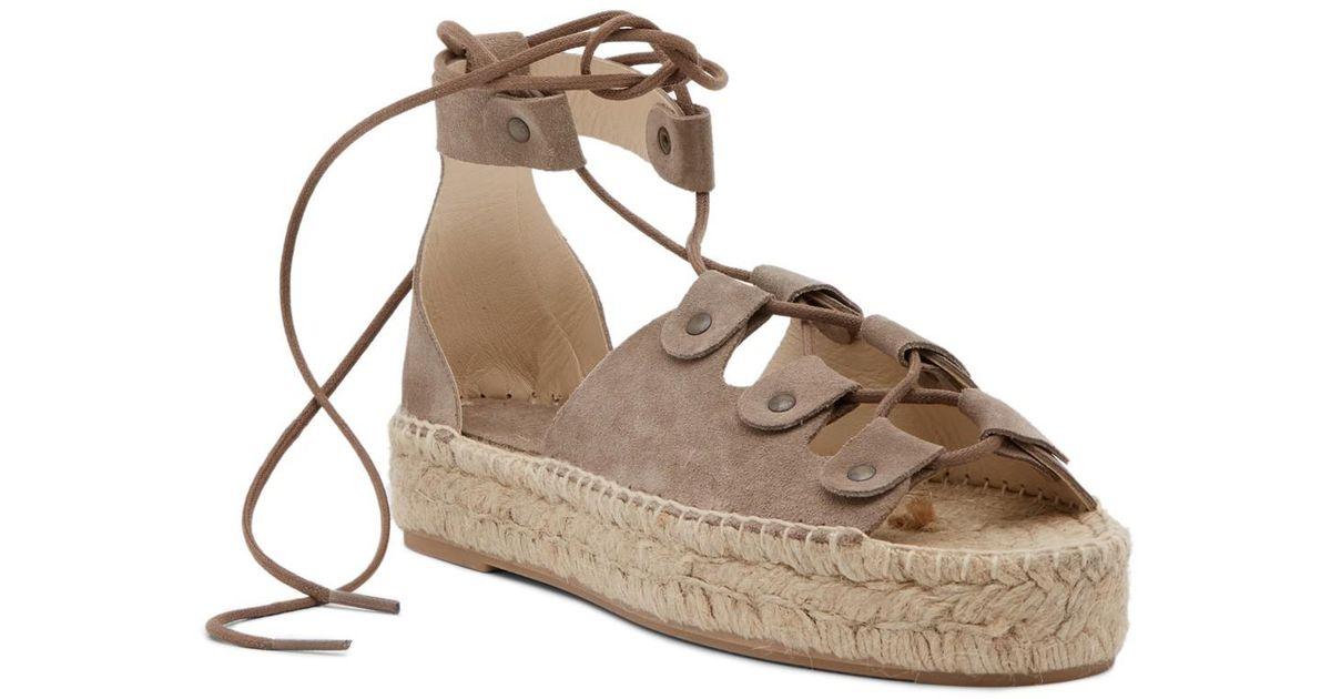 f1b20ffdf5ef Lyst - Soludos Ghillie Platform Sandal