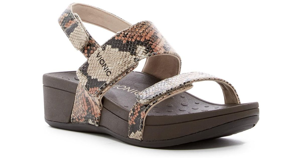4ce7f33d3cbf Vionic Bolinas Platform Sandal in Brown - Lyst