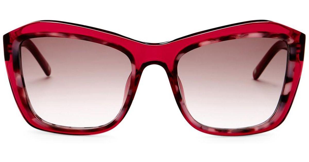 a37ddeaba3 Lyst - ESCADA Oversized Sunglasses in Pink
