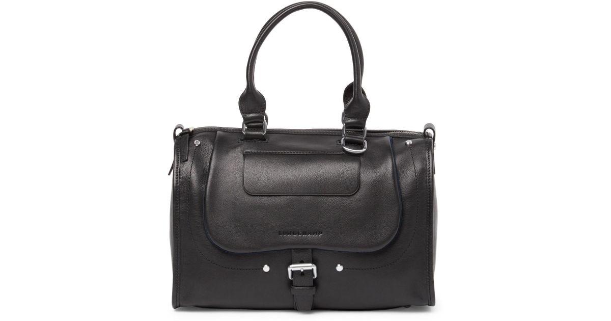 fe1ed138462 Lyst - Longchamp Balzane Leather Satchel in Black