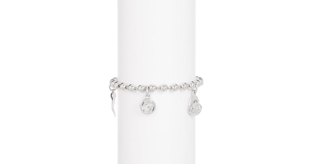 4c7d740ef Gucci Sterling Silver Boule Ball Chain Charm Bracelet in Metallic - Lyst