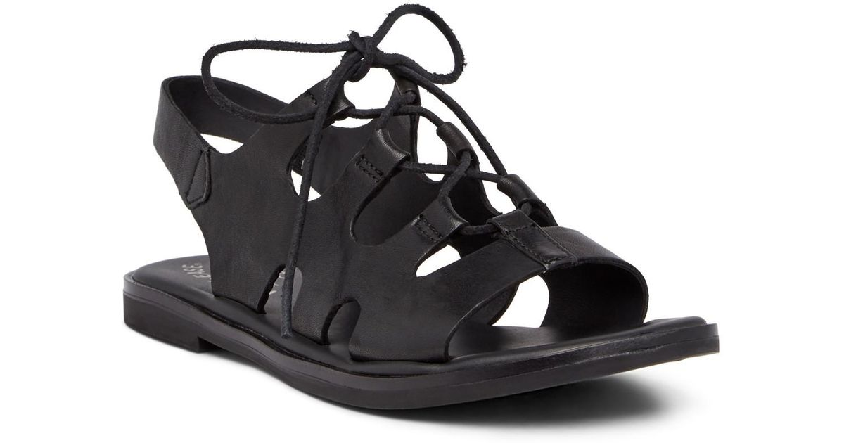 f30121544a2 Lyst - Kork-Ease Pearl Ghillie Lace-up Sandal in Black