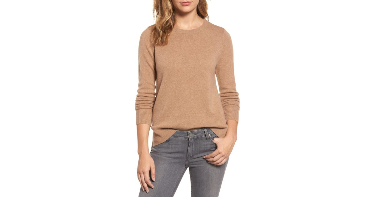 91db85a54 Lyst - Halogen (r) Crewneck Cashmere Sweater (regular   Petite)