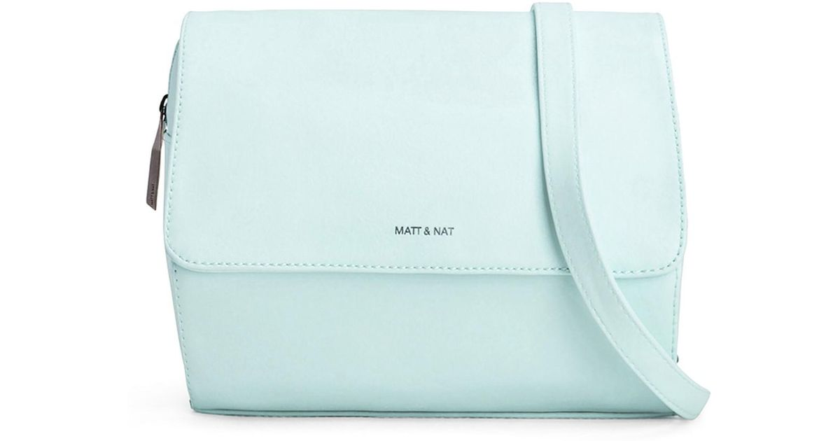 2a1751b83 Matt & Nat Phi Cycle Commuter Vegan Leather Crossbody Bag in Blue - Lyst