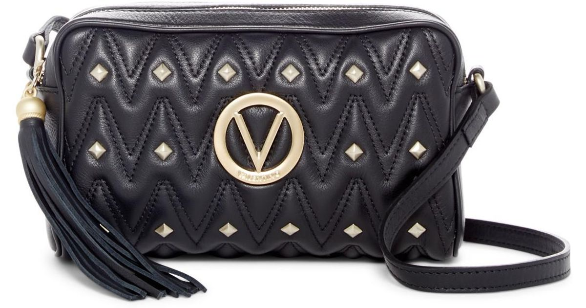 03f09da26fa43 Valentino By Mario Valentino Mila Studded & Quilted Leather Crossbody Bag  in Black - Lyst