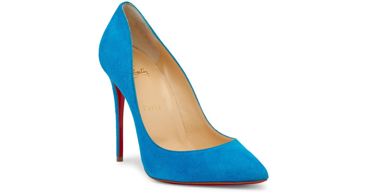 1c7ae6c91633 Lyst - Christian Louboutin Pigalle Follies Pointed Toe Pump in Blue
