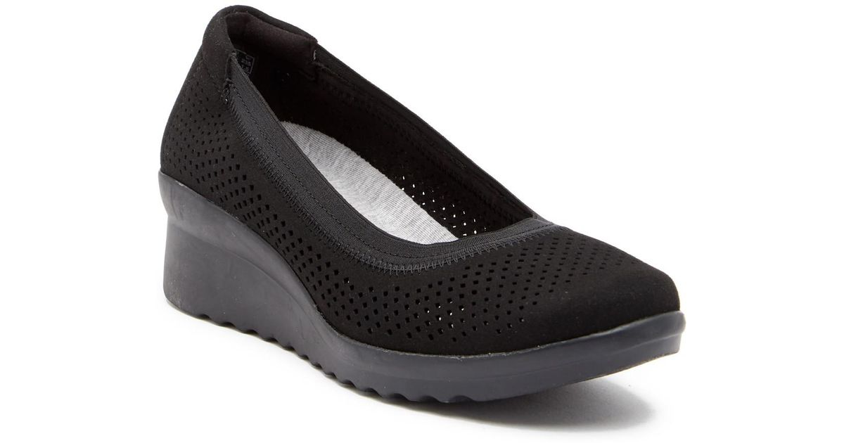 7f530921dfaf Lyst - Clarks Caddell Trail Wedge Flat in Black