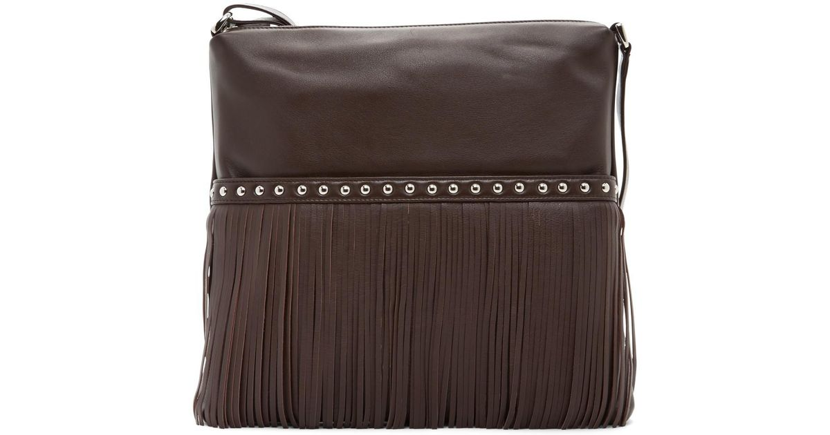 01fac15705 Lyst - Ili Fringe Leather Crossbody in Brown