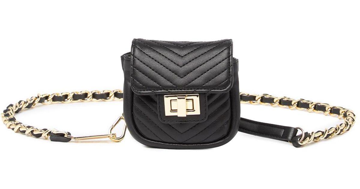 ebb0f9e1492 Steve Madden Chain Belt Bag in Black - Lyst