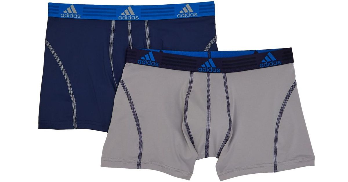1707b43a020c Lyst - adidas Sport Performance Climalite Trunks - Pack Of 2 - S for Men