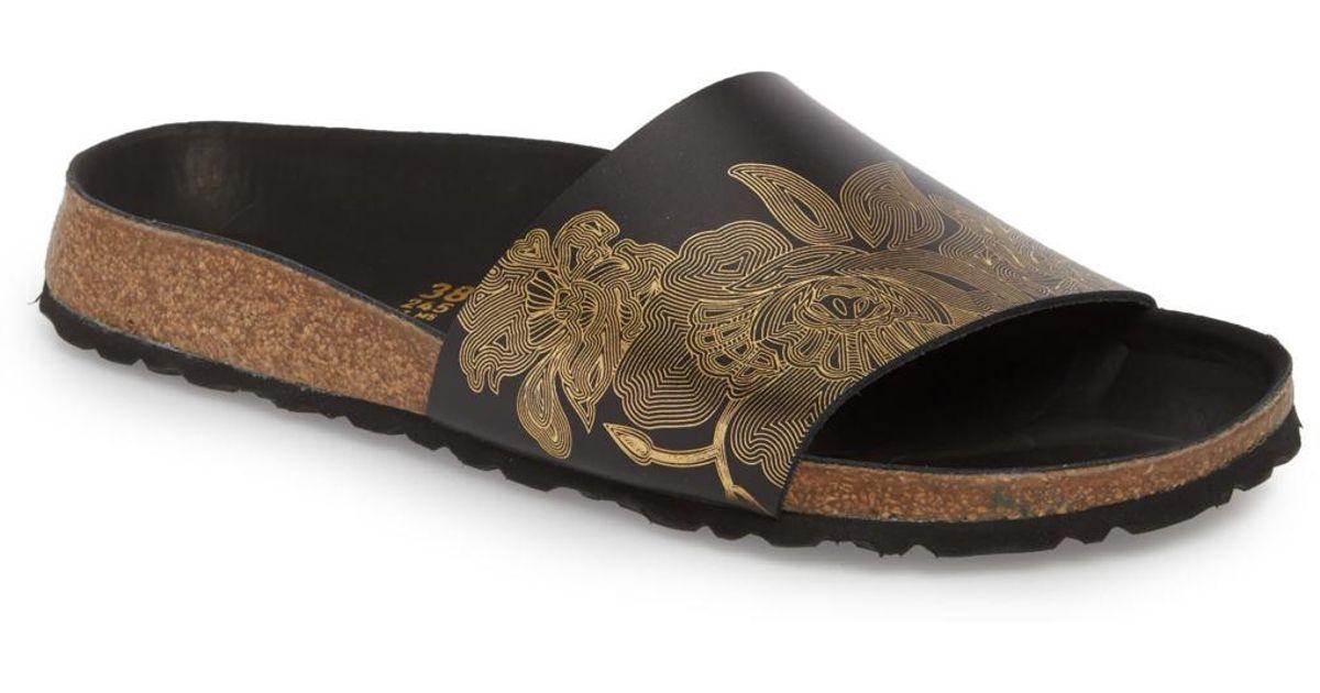 248dcbb2a Lyst - Birkenstock Cora Hex Slide Sandal in Black