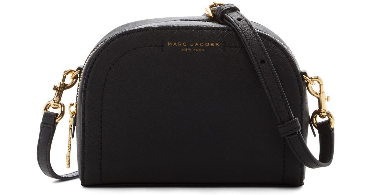 a68a063abeb Marc Jacobs Playback Leather Crossbody Bag in Black - Lyst