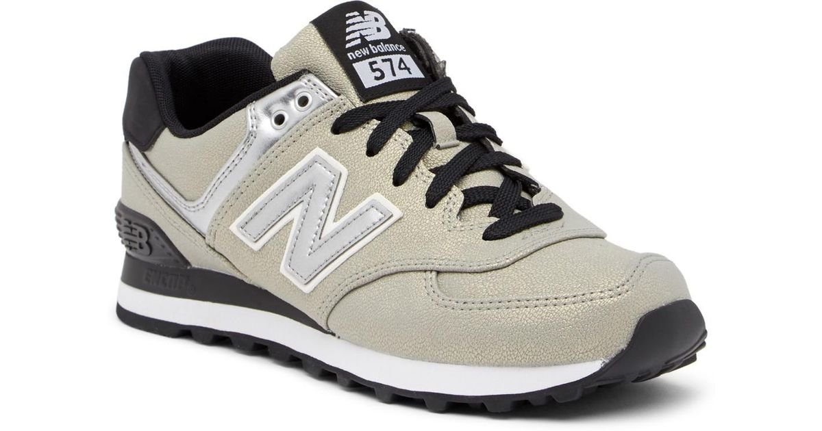 33562e2f372c6 cheap lyst new balance 574 seasonal shimmer suede sneaker wide width  available 9e68f 42130