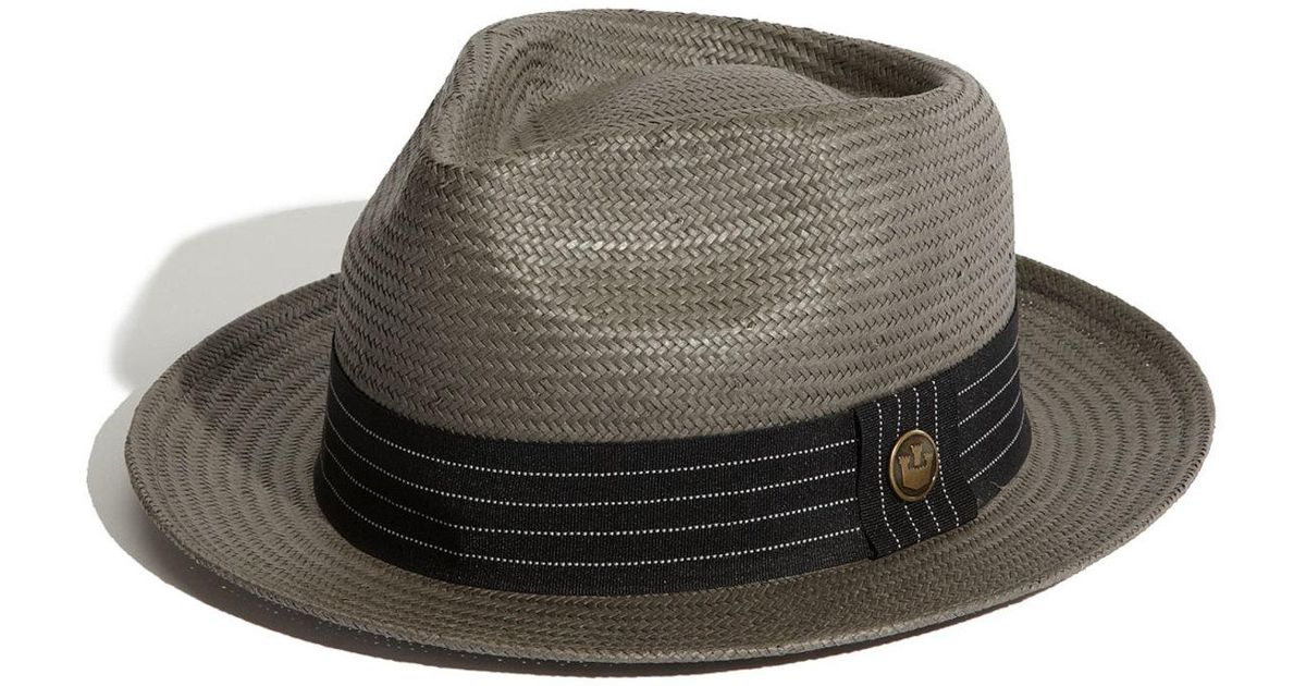 7d0f9c8c7 Goorin Bros Gray Snare Straw Fedora for men