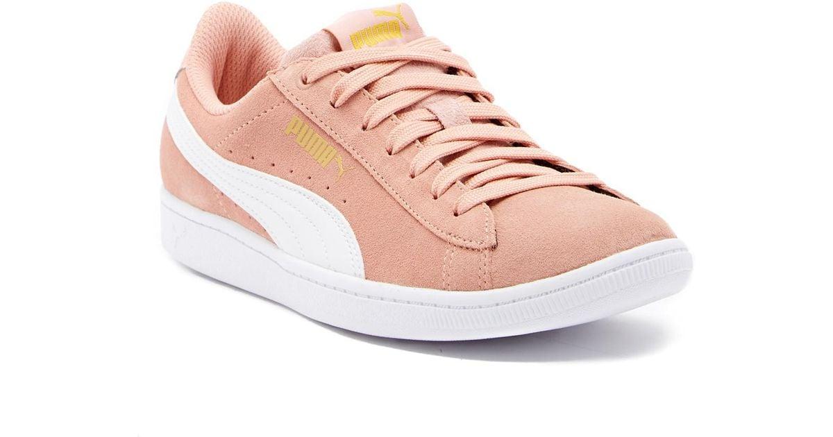5bdd3287266e Lyst - PUMA Vikky Lo Suede Sneaker in Pink