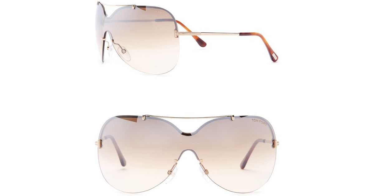 fd91029e1351 Lyst - Tom Ford 51mm Shield Sunglasses