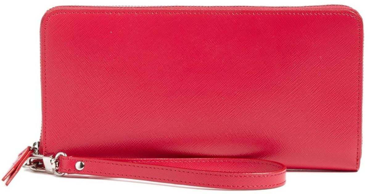 56835839414b Lyst - Halogen (r) Leather Zip Around Wallet in Pink