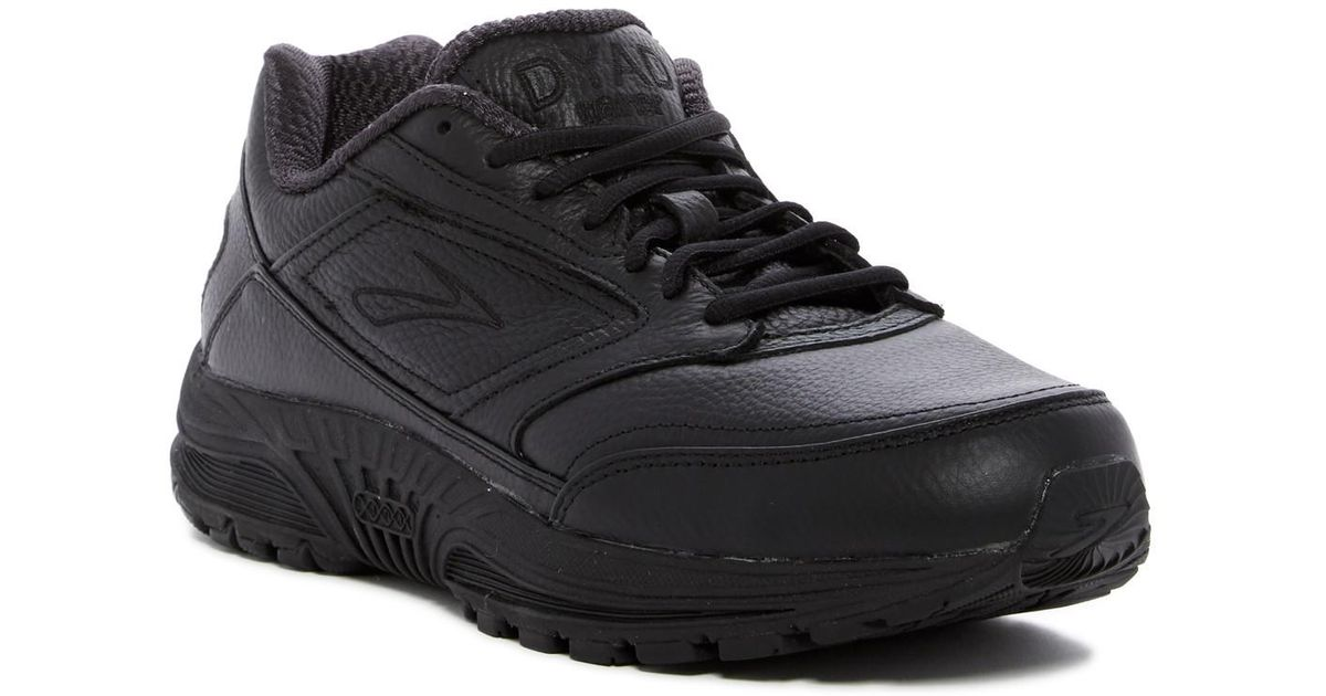 Brooks Black Leather Walking Shoes