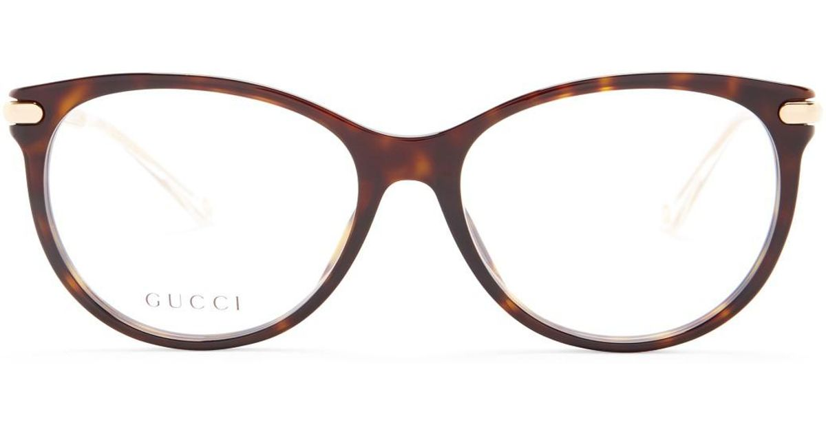 Lyst - Gucci Men\'s Rounded Optical Frames in Brown for Men