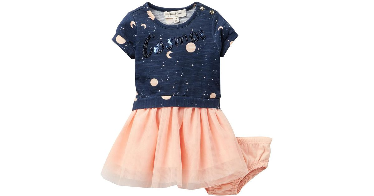Lyst Jessica Simpson Cosmos Dress Baby Girls In Blue