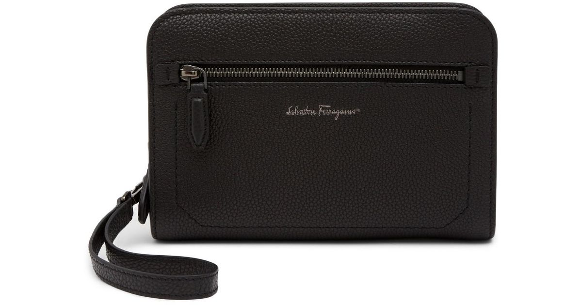68d824f6094 Lyst - Bally Zip Around Leather Wallet in Black for Men