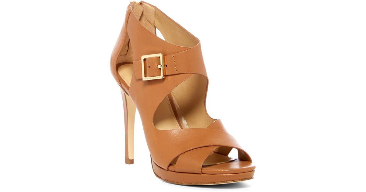 31d8821ba9c Lyst - MICHAEL Michael Kors Kimber Platform Sandal in Brown