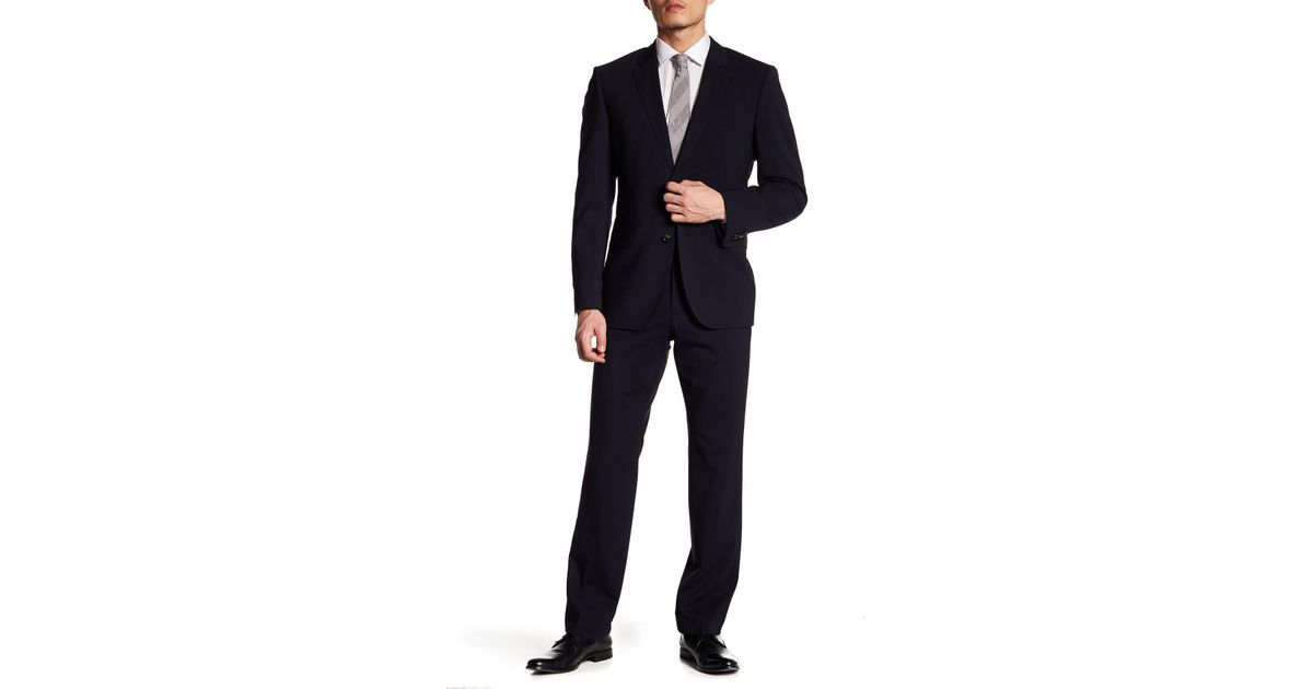 b512188bb BOSS James Sharp Stretch Fit Two Piece Suit in Blue for Men - Lyst