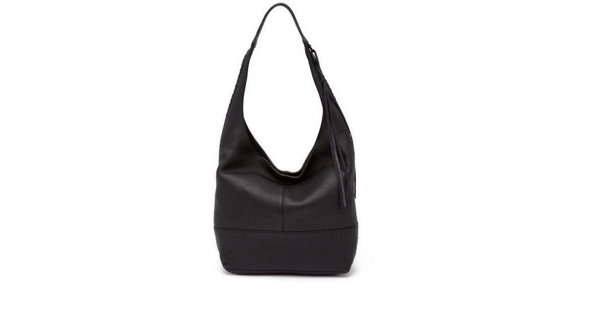 f334774340 Lyst - Rebecca Minkoff Unlined Slouchy Leather Hobo With Whipstitch in Black