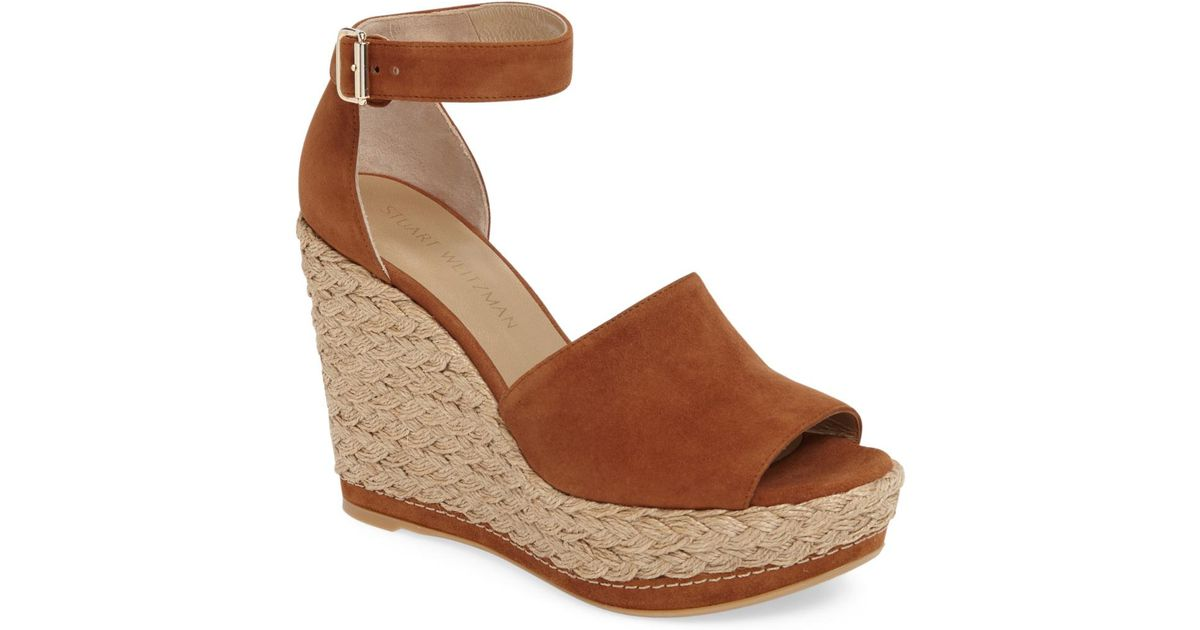 773824a7527 Lyst - Stuart Weitzman Sohojute Platform Wedge Sandal (women) in Brown