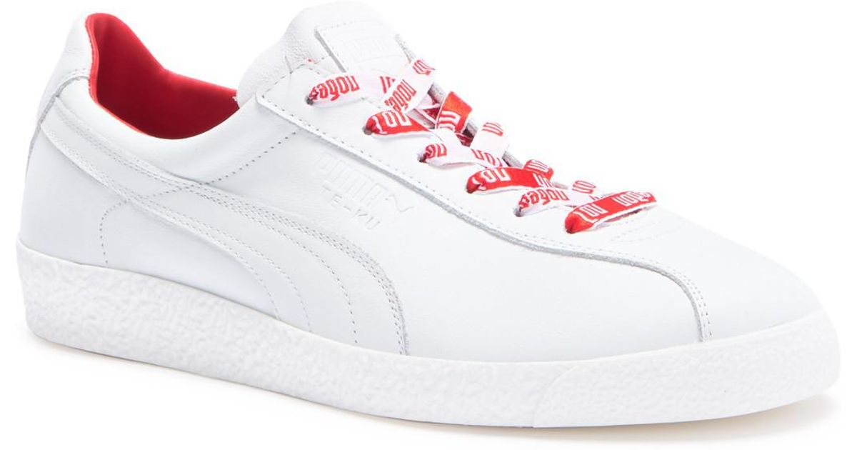 80d3ef2f4d18a1 Lyst - PUMA Te-ku Russia Fm Leather Sneaker in White for Men