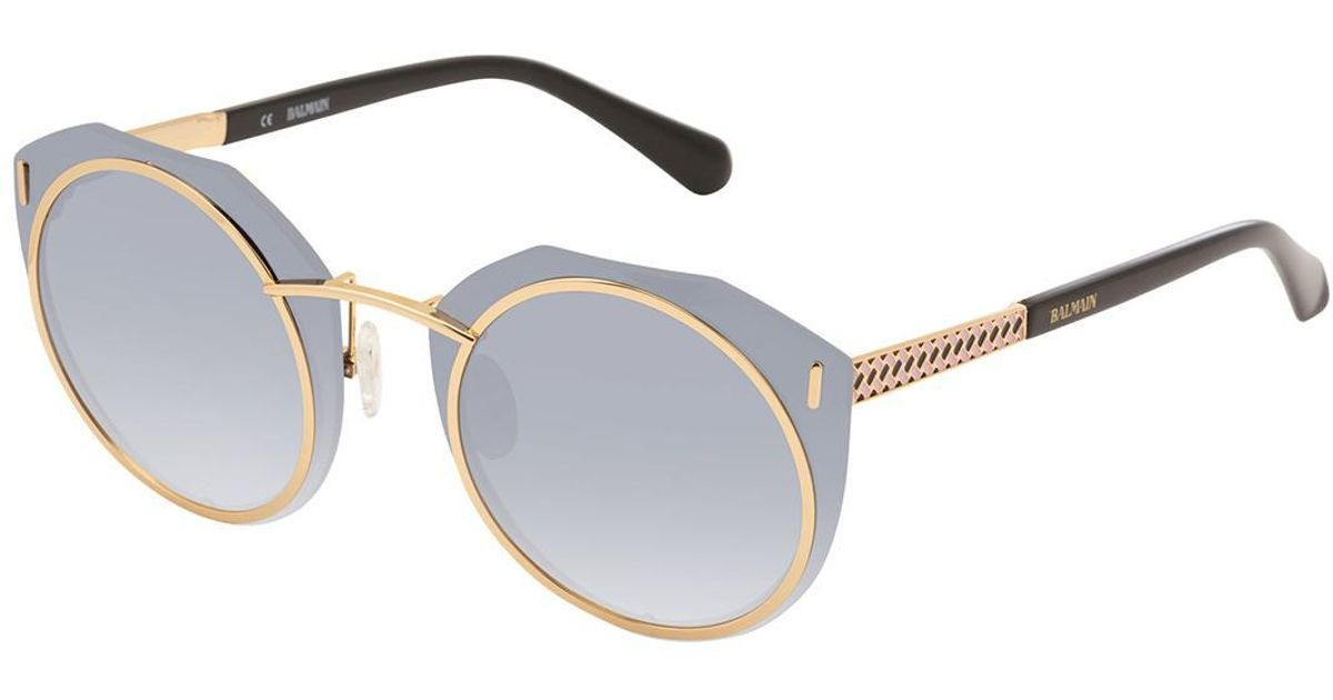 fa483b6a9d2 Lyst - Balmain Round 61mm Metal Frame Sunglasses in Black