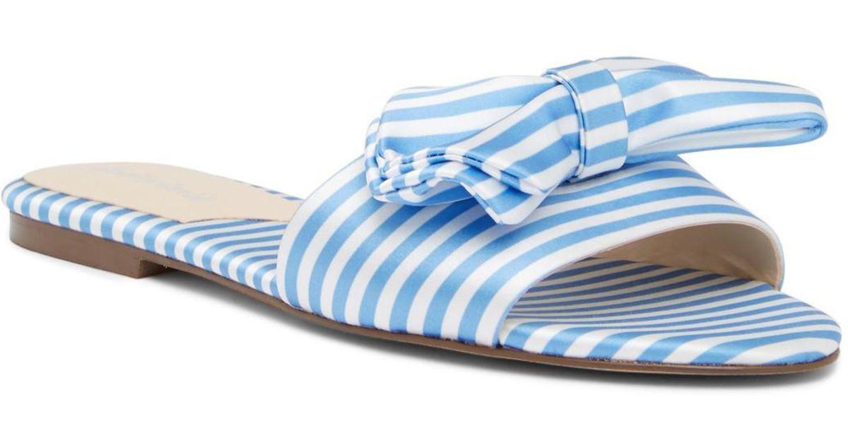 Charles David Slipper Striped Canvas Slide Sandal G2iCsSQPY