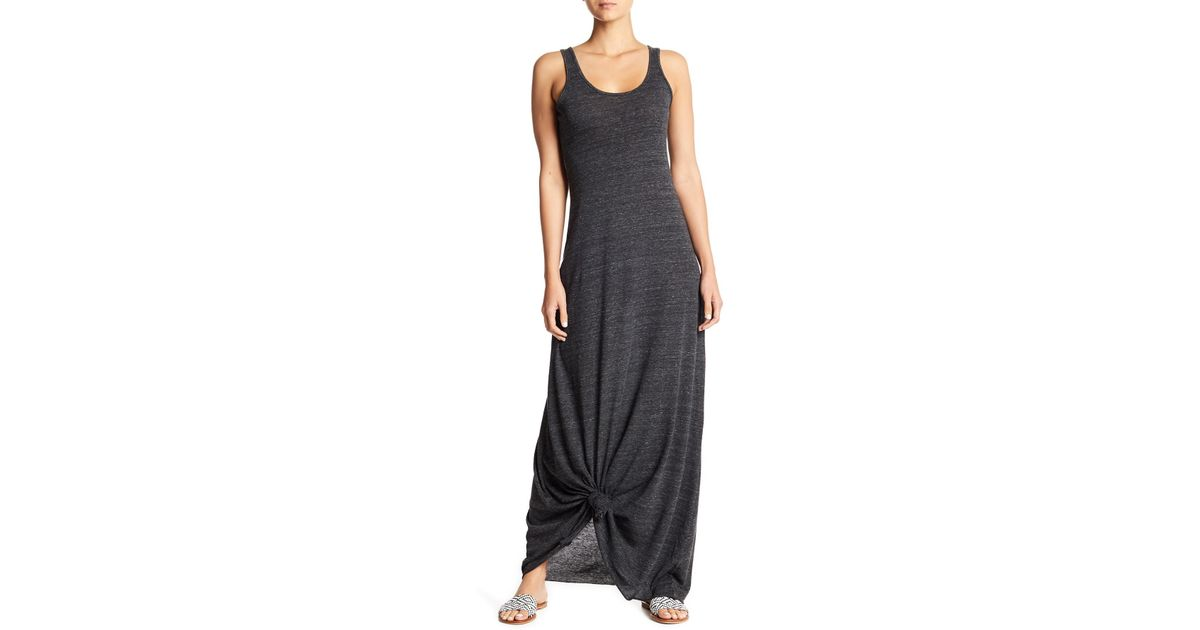 e69eba7378f Lyst - Alternative Apparel Scoop Neck Tank Maxi Dress in Black