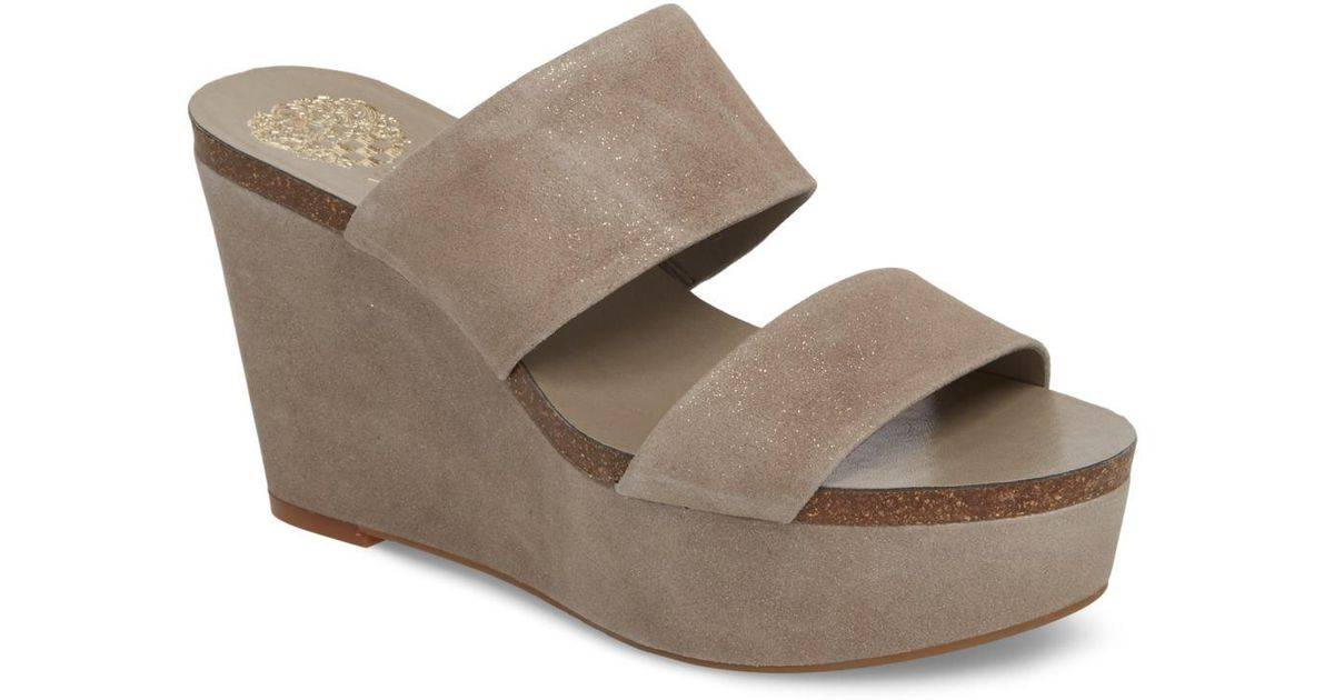 0837266cdb9 Lyst - Vince Camuto Varenia Platform Wedge Sandal (women)