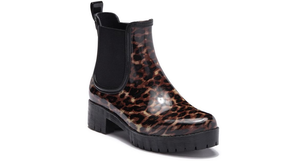 c368a6afb Lyst - Jeffrey Campbell Cloudy Chelsea Rain Boot (women)