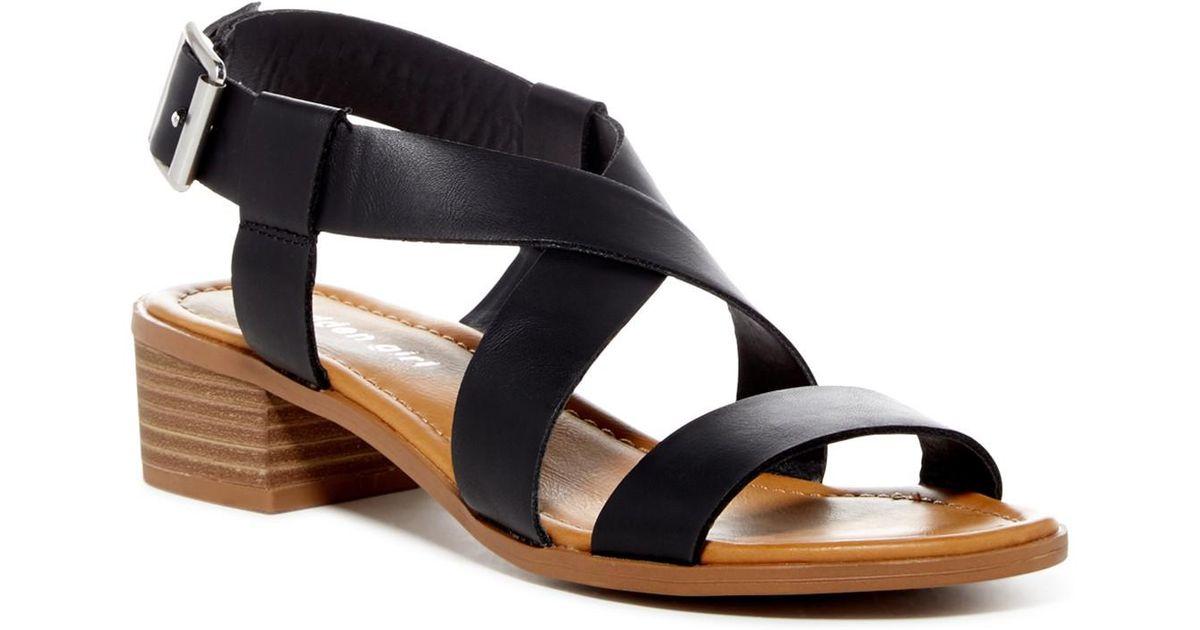 2a7152341cb Madden Girl - Black Tulum Block Heel Sandal - Lyst