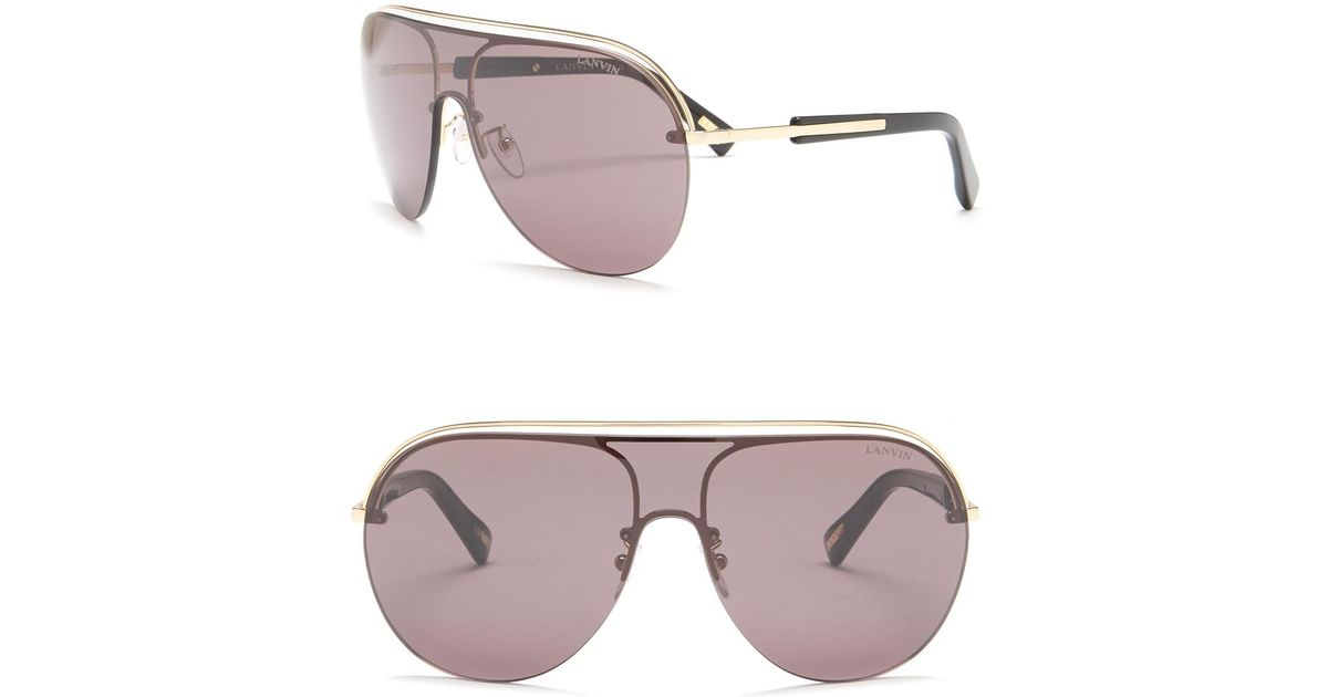 9714460871d Lyst - Lanvin 99mm Metal   Acetate Shield Sunglasses