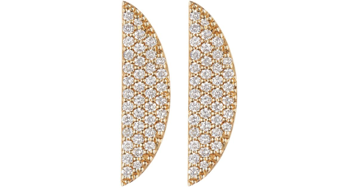 15282abd0 Lana Jewelry 14k Gold Flawless Eclipse Diamond Pave Earrings - 0.58 Ctw in  Metallic - Lyst