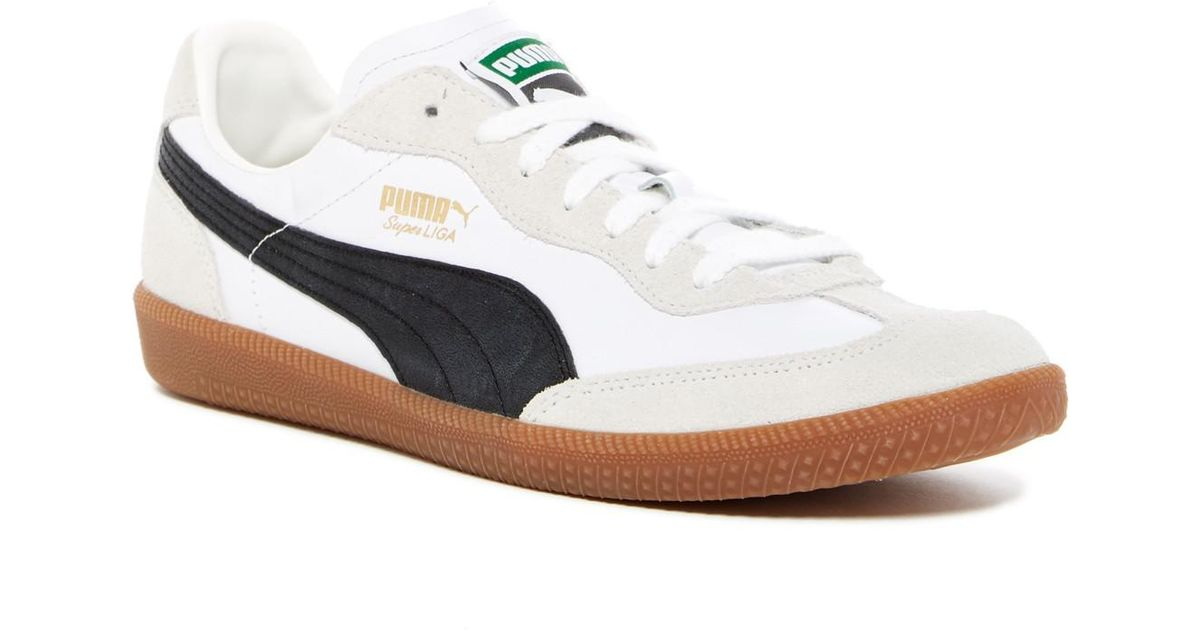 low priced f8451 98c4b Lyst - Puma Super Liga Og Retro Leather Suede Sneaker in Wh ...