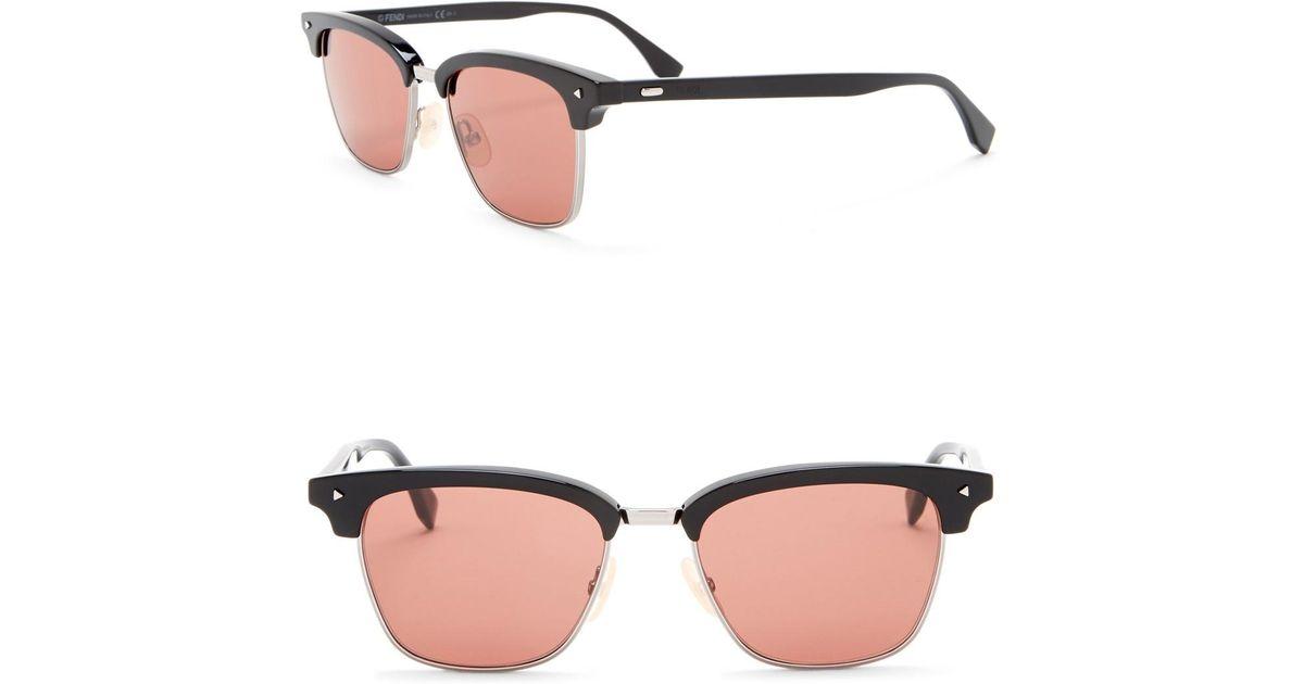 b55b5d2b4da Lyst - Fendi Modified Rectangle 52mm Sunglasses in Pink for Men