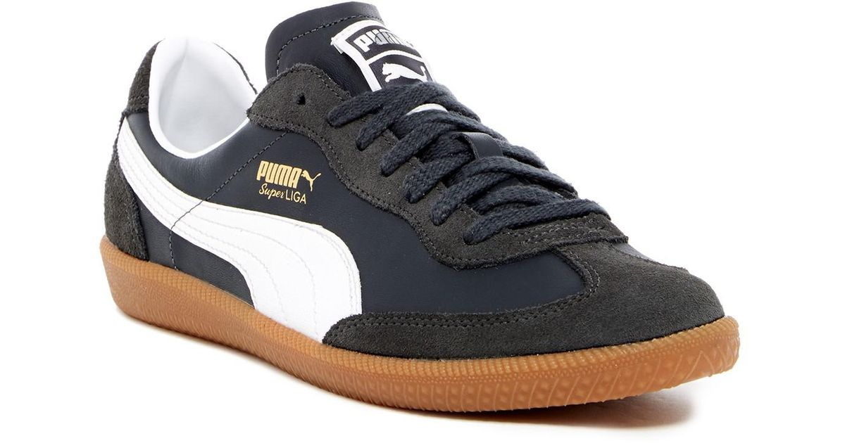 f92623f14fe Lyst - PUMA Super Liga Og Retro Leather Sneaker in Blue for Men