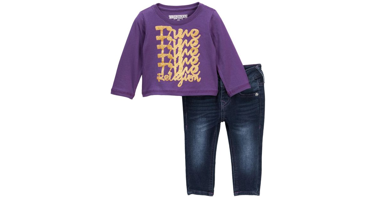 332eba14e True Religion Long Sleeve Tee & Jeans Set (baby Girls) in Blue for Men -  Lyst
