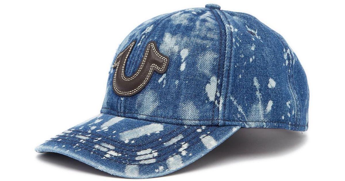 3fb38dcf True Religion Splatter Denim Baseball Cap in Blue for Men - Lyst