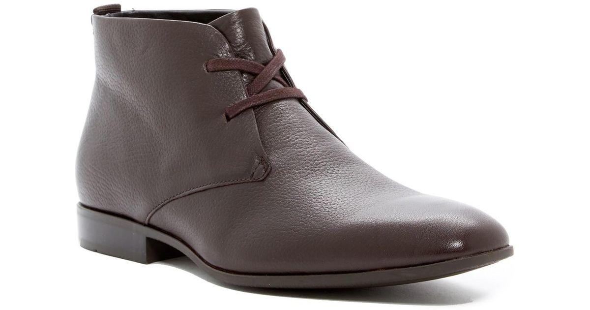 c0ba8e19bb8 Lyst - Calvin Klein Carmichael Chukka Boot (men) in Brown for Men