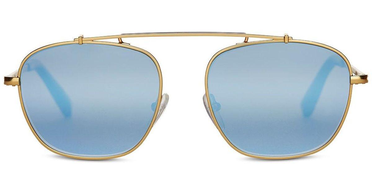 9bbb8c876c54 TOMS Riley 53mm Aviator Sunglasses in Metallic - Lyst
