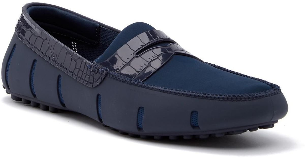 aa433a1e56f Lyst - Swims Penny Lux Alligator Loafer in Blue for Men